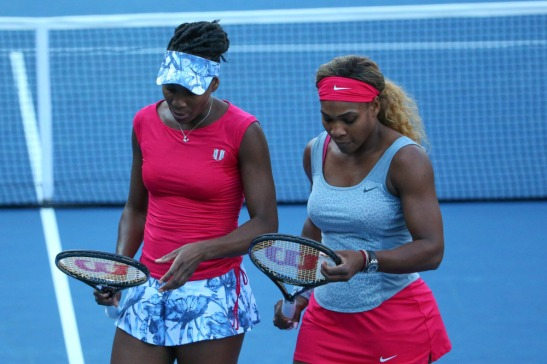 Venus and Serena Williams at US Open in August of 2014