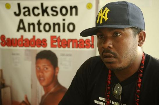 Antônio Borges, father of Jackson Antonio Souza de Carvalho, killed in Itacaré