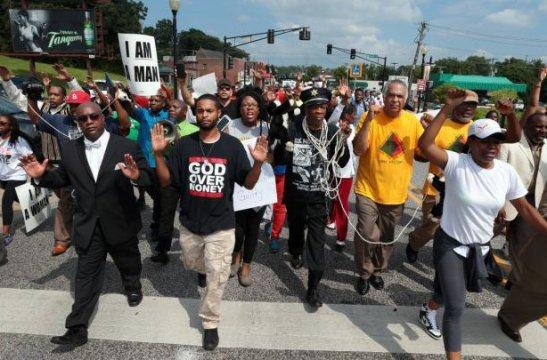 Civil disobedience in Ferguson, Missouri, USA