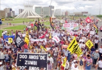 March in nation's Federal District in recognition of 300 years of the death of Zumbi dos Palmares