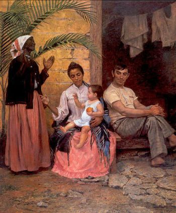"The 1895 Modesto Bronco painting ""Redenção de Cam"""