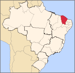 Northeastern state of Ceará, in Brazil's northeast