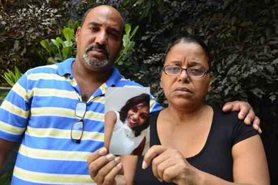 Ironildo Motta da Silva and Sônia Vargas Motta, Haíssa's parents, advocate an end to police impunity – photo: Tânia Rego/Agência Brasil