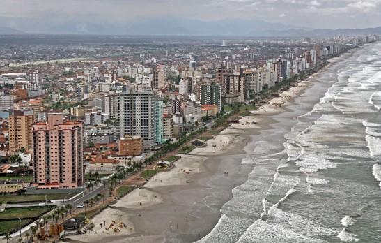 Mongaguá beach in São Paulo state