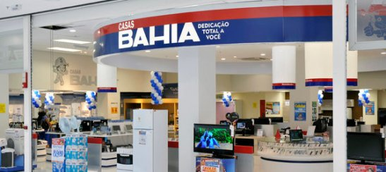 "Casas Bahia appliance store: ""Casas Bahia: Total dedication to you"""