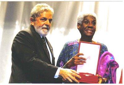 Raquel with former President Lula da Silva