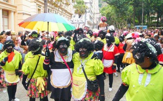 The Domésticas de Luxo Carnaval bloco in Juiz de Fora, Minas Gerais