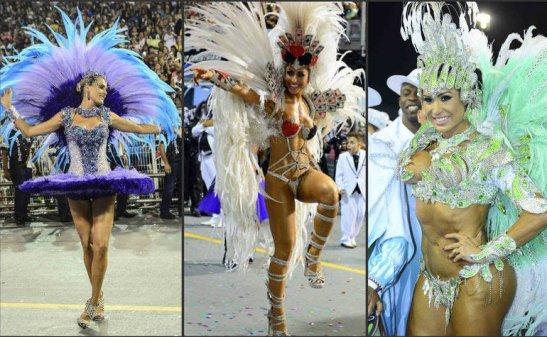 São Paulo Carnaval featuring Sabrina Sato, Ana Hickmann and Gracyanne Barbosa
