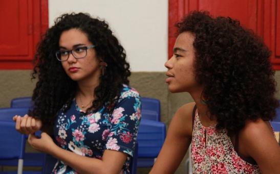 Carmen Kemoly and Ariadne Chaves, of Projeto Tela Preta (Photo - Gabriel Tôrres-CT)