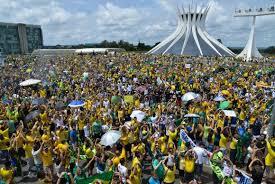 The scene in the capital city of Brasília