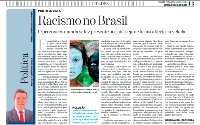 "Article: ""Racism in Brazil"""