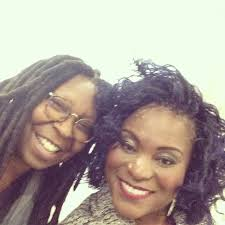 Karin Hils in a selfie with Whoopi Goldberg