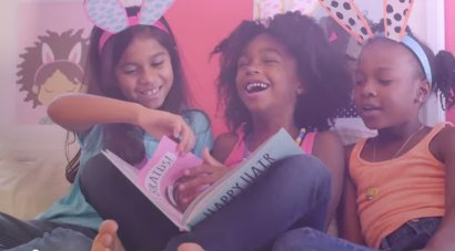 Still from 'Happy Hair Girls' commercial