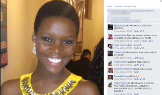 Cristiane Damacena recently posted a photo of herself on Facebook and became the target of numerous racial insults
