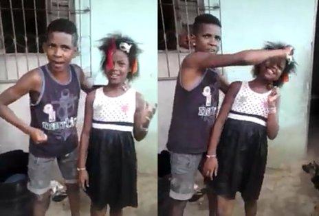 Scene from video 'Menina de cabelo duro'