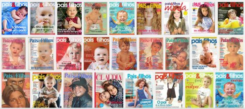 The other parenting magazine 'Pais & Filhos' (meaning parents and children) follows the same standard as 'Crescer'. This is a Google image search of that magazine