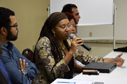 Larissa Borges of the Secretaria de Políticas de Promoção da Igualdade Racial da Presidência da República