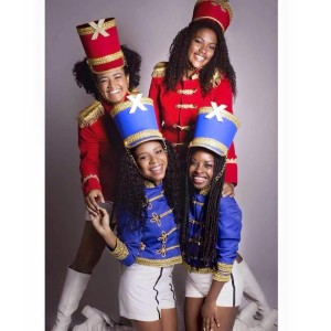 Image of black girls dressed as Paquitas that circulated online