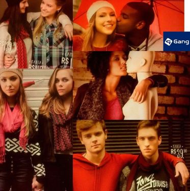 Collage of images from Gang commercial