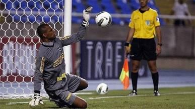 Brazil's goalie Jefferson de Oliveira Galvão