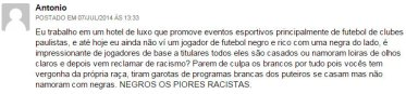 NEGROS OS PIORES RACISTAS (loiras) - The Guardian fala sobre racismo no Brasil da Copa (julho de 2014)