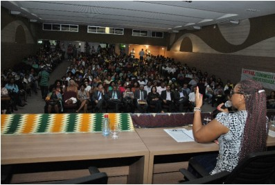 Nilma Lino Gomes of SEPPIR speaks at the inauguration of the course