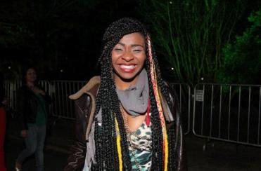 Zaika dos Santos durante o festival Conexão BH