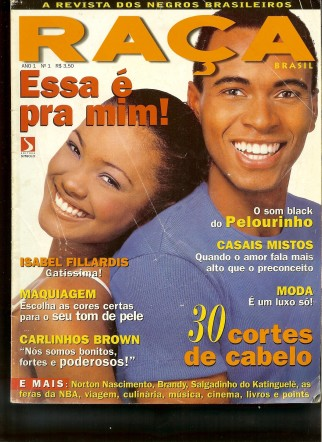 The first issue of  'Raça Brasil' magazine flew off of newsstands when it was released in September of 1996