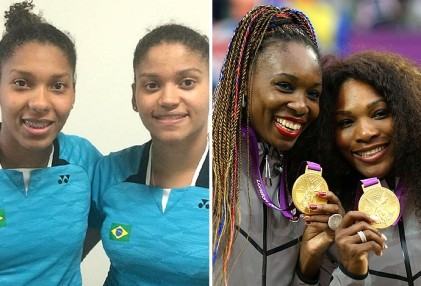 Luana and Lohaynny Vicente are inspired by the American tennis players Venus and Serena Williams (Photos: Globoesporte.com)