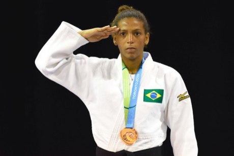 World champion, Rafaela Silva takes the bronze in judo