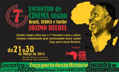 Flyer for the VII Encontro de Cinema Negro in Rio