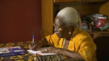 79 year old Leonides Victorino learned to read and write at age 67