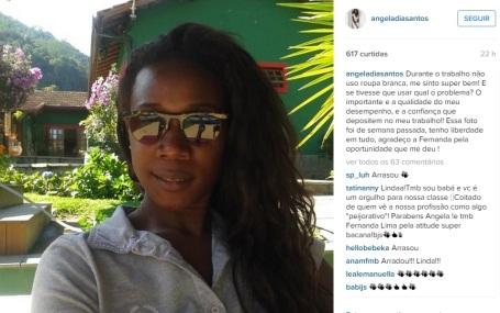 Ângela Dias responds to criticisms of Fernanda Lima