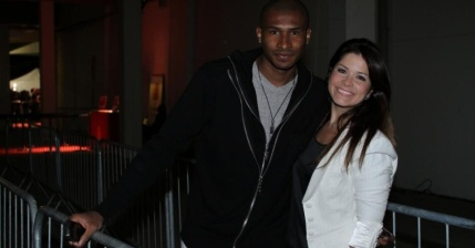 NBA basketball player Leandro Barbosa and wife Samara Felippo