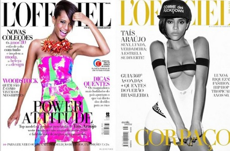 Afro-Brazilians continue to be a rarity on Brazilian magazine covers, but Taís is one of the most popular choices