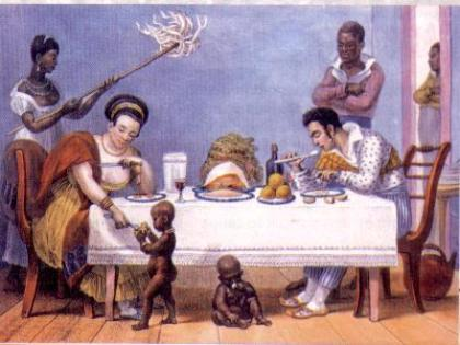 Painting depicting slavery in Brazil