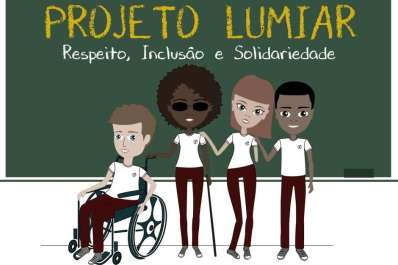 "Invited by Luana, a former student Talita Amorim made the graphic design ""Lumiar"" - Foto: Cartola - Agência de Conteúdo"