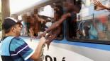 Os adolescentes foram abordados pela PM em ônibus e levadas para o Centro Integrado