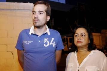 Public defenders Rodrigo Azambuja and Eufrasia Souza.