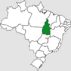 State of Tocantins (in green)