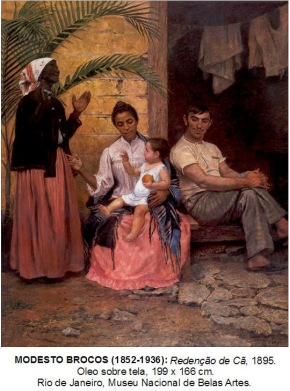 The 1895 painting 'Redenção de Cam' which portrays Brazil's aspirations of whitening the population through successive racial mixture