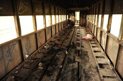 Cheikh Diba, 25, was sleeping in one of the abandoned train regions