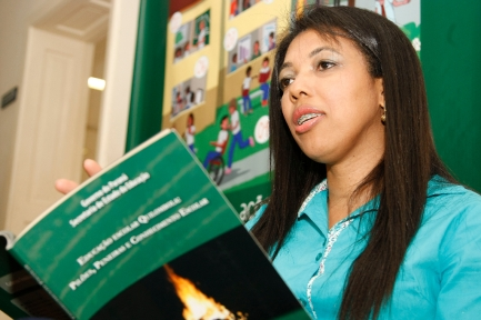 Secretaria de Estado da Educação do Paraná, Doutora Edimara Soares quilombola e a primeira Doutora em Educação Quilombo. 04-09-15. Foto: Hedeson Alves