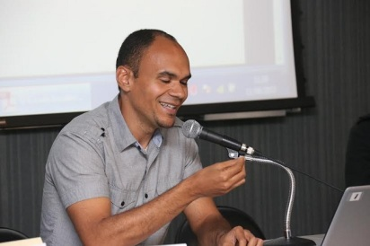 Alex André Vargem during an event at USP