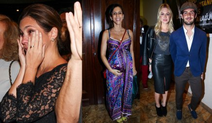 Adriana Esteves, Sarah Oliveira, Fiorella Mattheis and Alexandre Pato were in attendance
