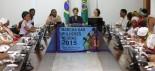 Brasília- DF 18-11-2015 Foto Lula Marques/Agência PT   Presidenta Dilma recebe participantes da Marcha da mulheres negras. Deputado disutiu com manifestantes golpista e a polícia jogou gás de pimenta.