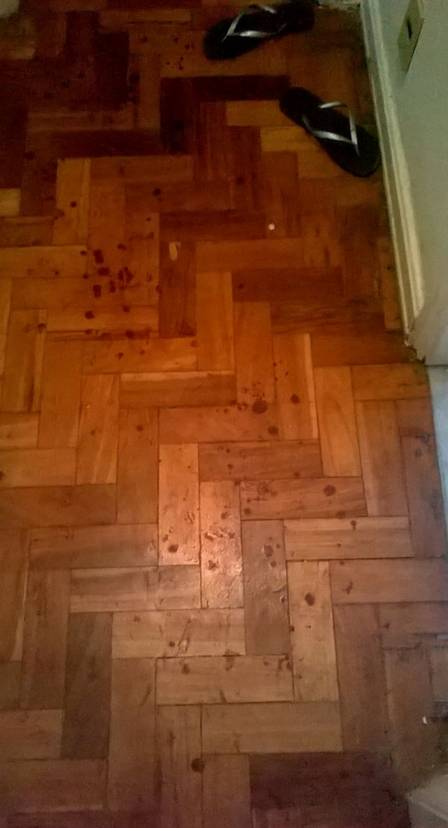 blood on apartment floor