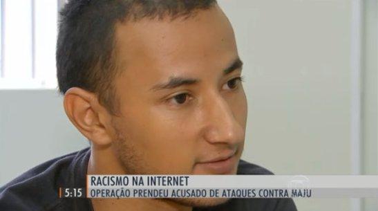 Operação prende acusado de praticar racismo contra Maria Júlia Coutinho (Maju) - Erico Monteiro dos Santos, 27