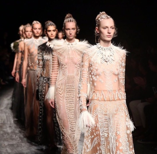 Valentino collection draws inspiration from Africa but 'forgets' black models. Only 8 of 89 looks featured black women