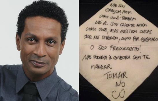 Ator Luís Miranda acusa cliente de restaurante de racismo - 'vai tomar no c..'